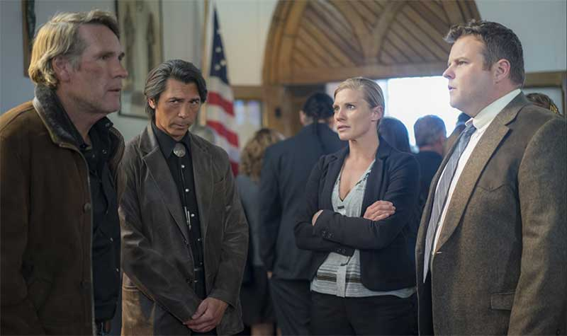 Robert Taylor, Lou Diamond Phillips, Katee Sackhoff Katee Sackhoff, and Adam Bartley in Longmire