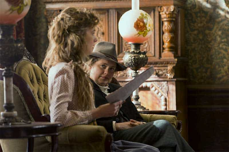 Tess Frazer and Merritt Wever in Godless