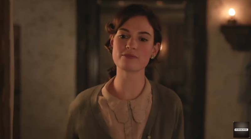 Lily James in Guernsey