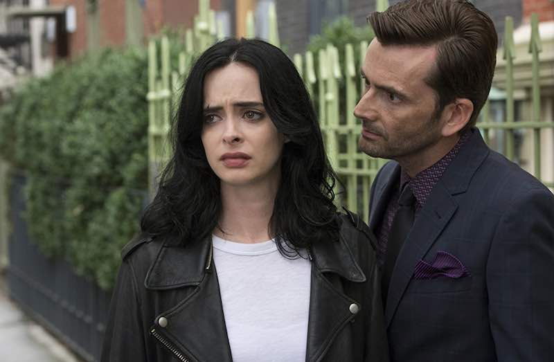 David Tennant and Krysten Ritter in Jessica Jones
