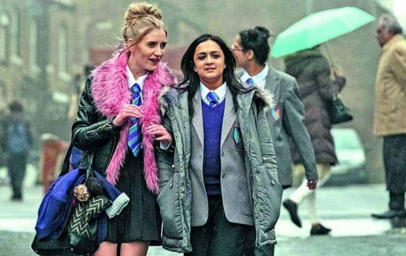 Poppy Lee Friar and Amy-Leigh Hickman in Ackley Bridge