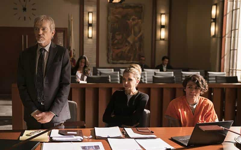 Billy Bob Thornton, Nina Arianda, and Diego Josef in Goliath