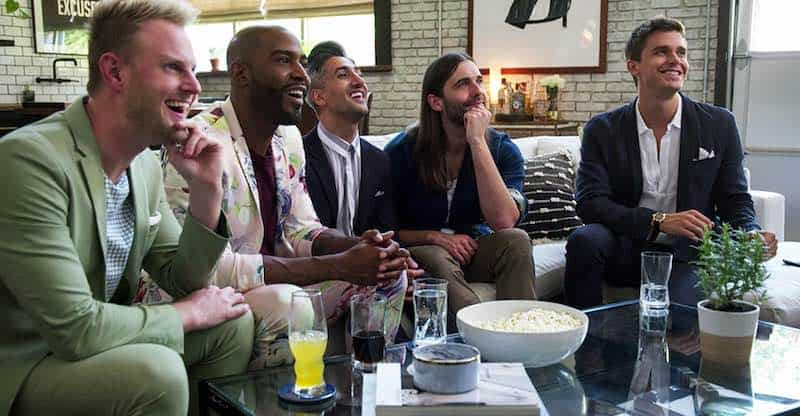 Karamo Brown, Antoni Porowski, Jonathan Van Ness, Tan France, and Bobby Berk in Queer Eye