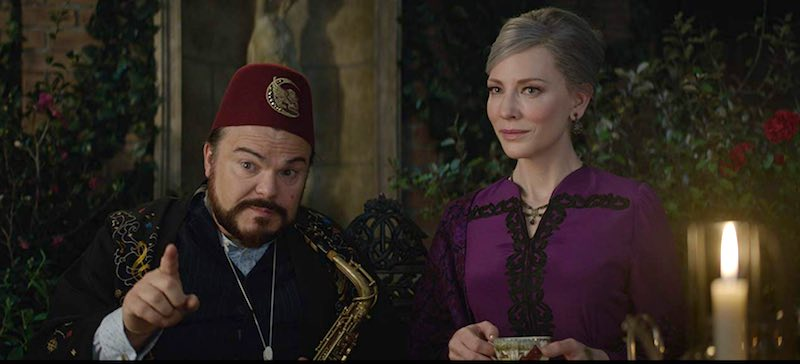 Cate Blanchett and Jack Black in The House with a Clock in Its Walls