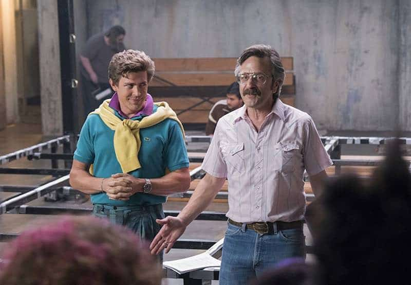 Chris Lowell and Marc Maron in GLOW