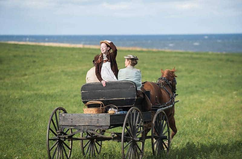 R.H. Thomson, Amybeth McNulty, and Geraldine James in Anne with an E