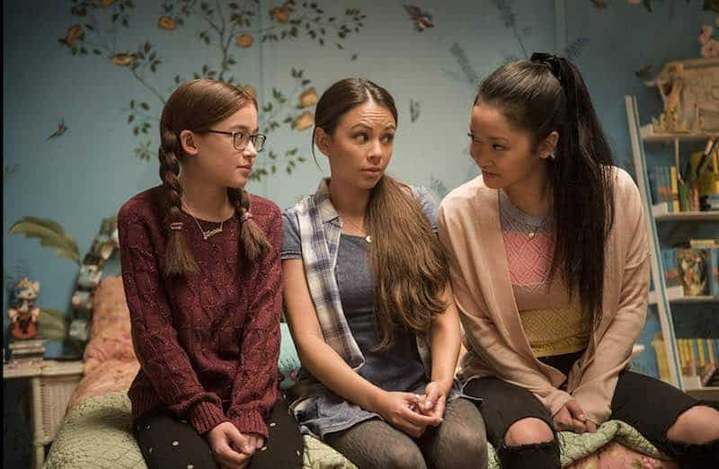 Janel Parrish, Anna Cathcart , and Lana Condor in To All the Boys I've Loved Before