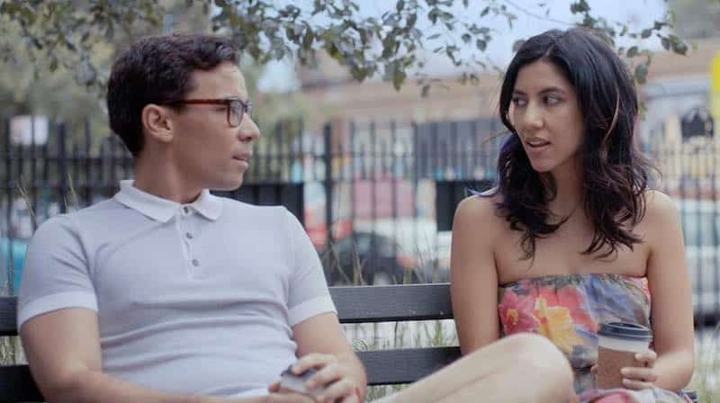 Conrad Ricamora and Stephanie Beatriz in The Light of the Moon