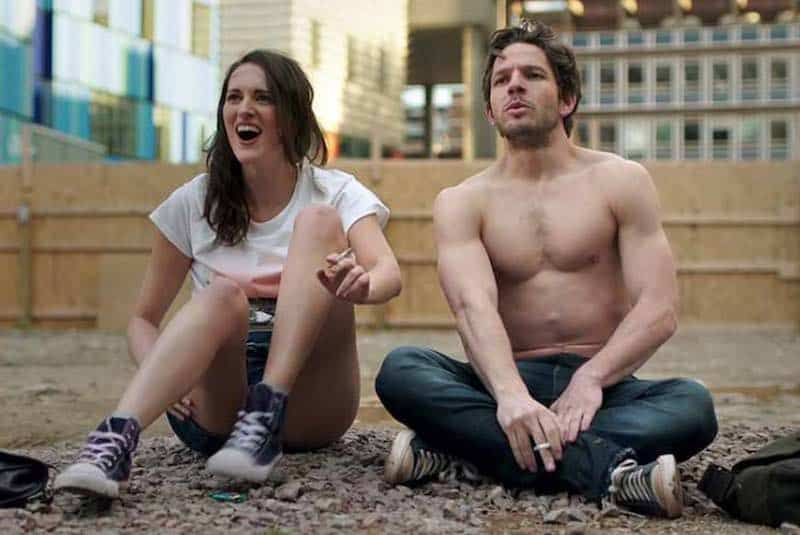 Phoebe Waller-Bridge and Damien Molony Damien Molony in Crashing