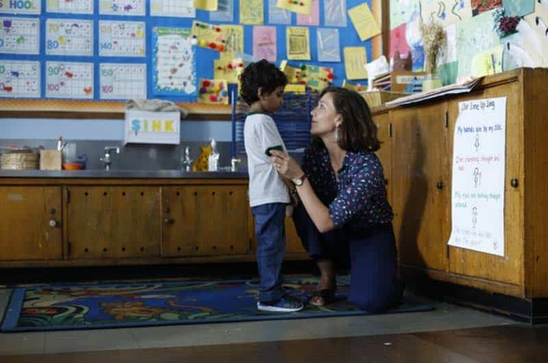 Maggie Gyllenhaal and Parker Sevak in The Kindergarten Teacher