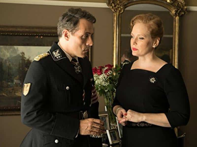 Rufus Sewell and Chelah Horsdal in The Man in the High Castle