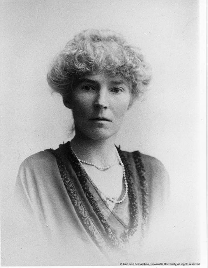"Gertrude Bell. Image from ""Letters from Baghdad"""