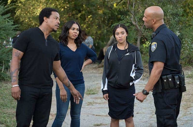 Russell Hornsby, Regina Hall, Amandla Stenberg and Common in The Hate U Give