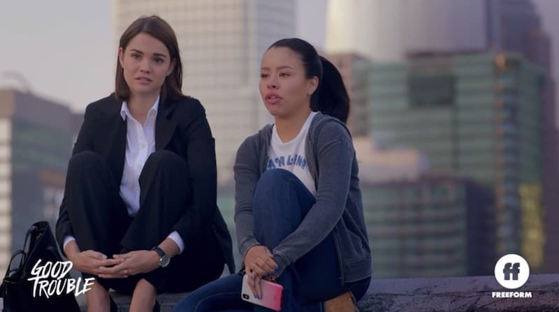 Cierra Ramirez and Maia Mitchell in Good Trouble