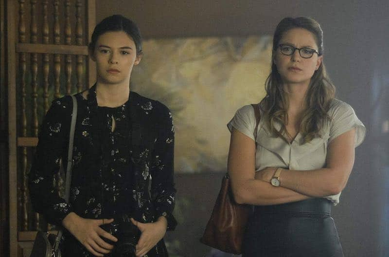 Melissa Benoist and Nicole Maines in Supergirl