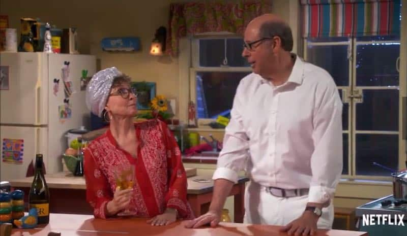 Rita Moreno and Stephen Tobolowsky in One Day at a Time