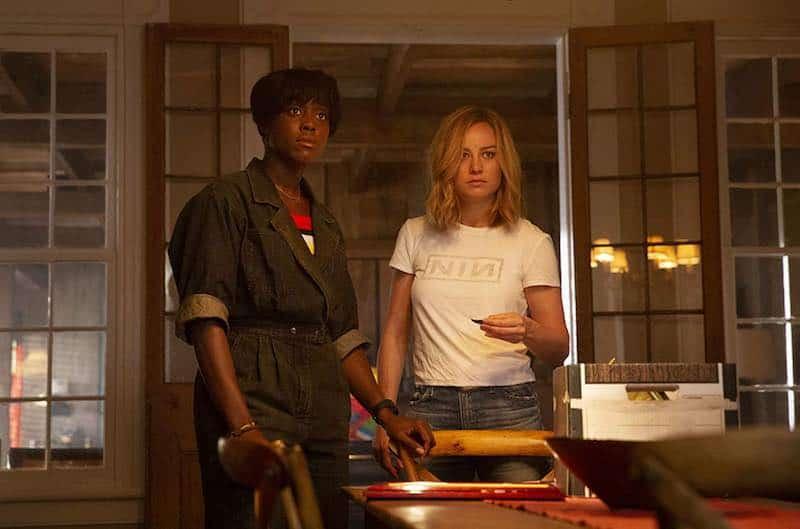 Brie Larson and Lashana Lynch in Captain Marvel