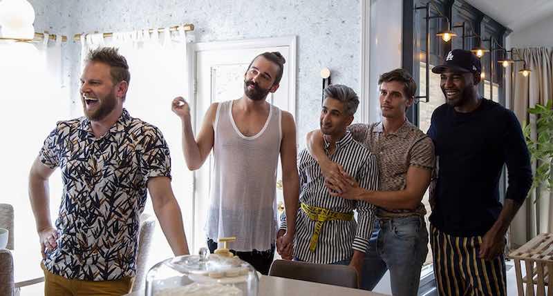 Karamo Brown, Antoni Porowski, Jonathan Van Ness, Tan France, and Bobby Berk in Queer Eye