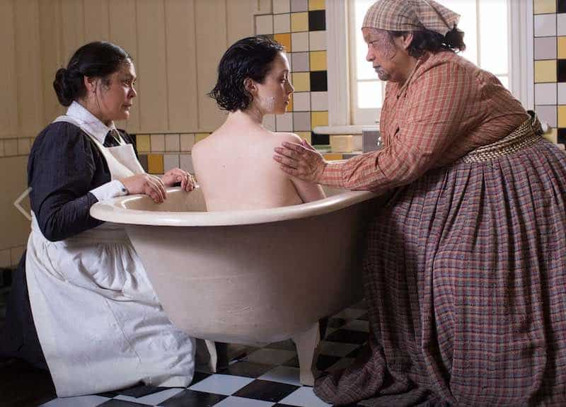Rachel House, Antonia Prebble and Whirimako Black in White Lies.