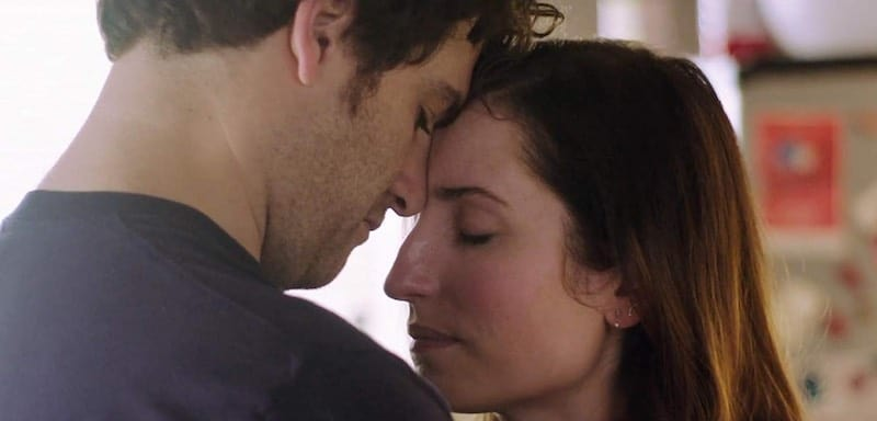 Adam Pally and Zoe Lister-Jones in Band Aid