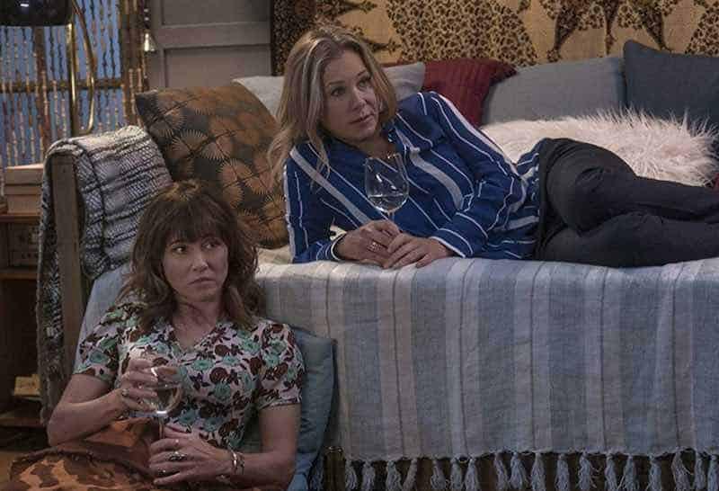 Christina Applegate and Linda Cardellini in Dead to Me