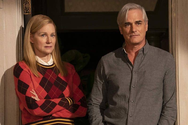 Laura Linney and Paul Gross  in Tales of the City