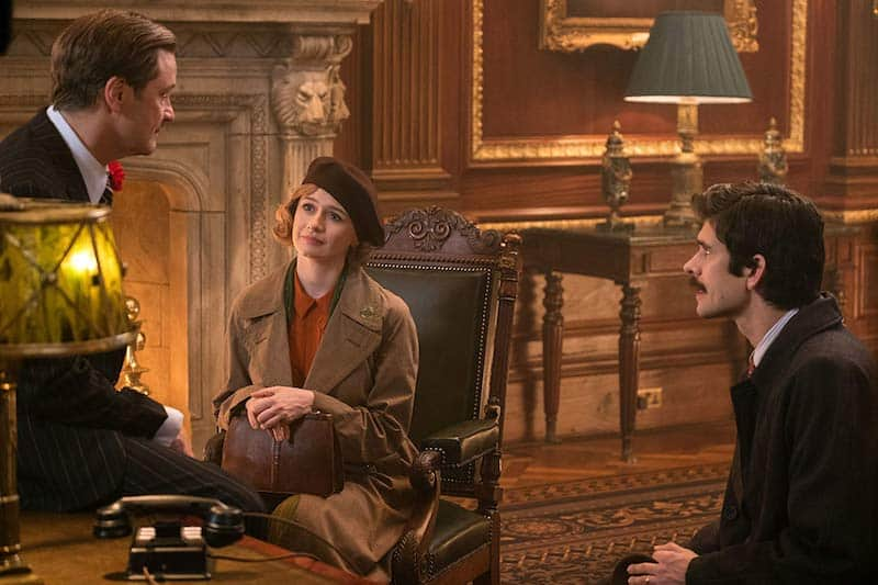 Colin Firth, Emily Mortimer, and Ben Whishaw in Mary Poppins Returns
