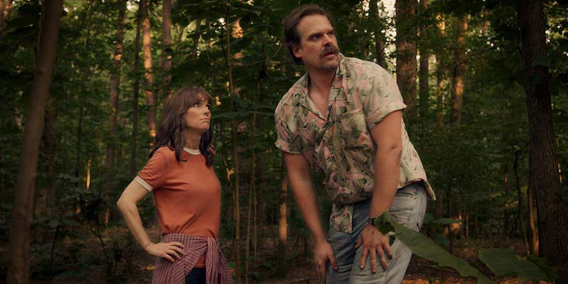 Winona Ryder and David Harbour in Stranger Things