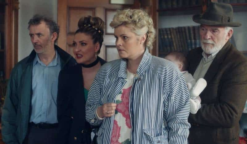 Kathy Kiera Clarke, Ian McElhinney, Tara Lynne O'Neill, and Tommy Tiernan in Derry Girls