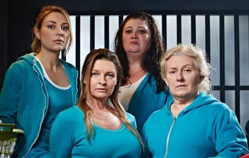 Celia Ireland, Tammy Macintosh, Katrina Milosevic, and Kate Jenkinson in Wentworth