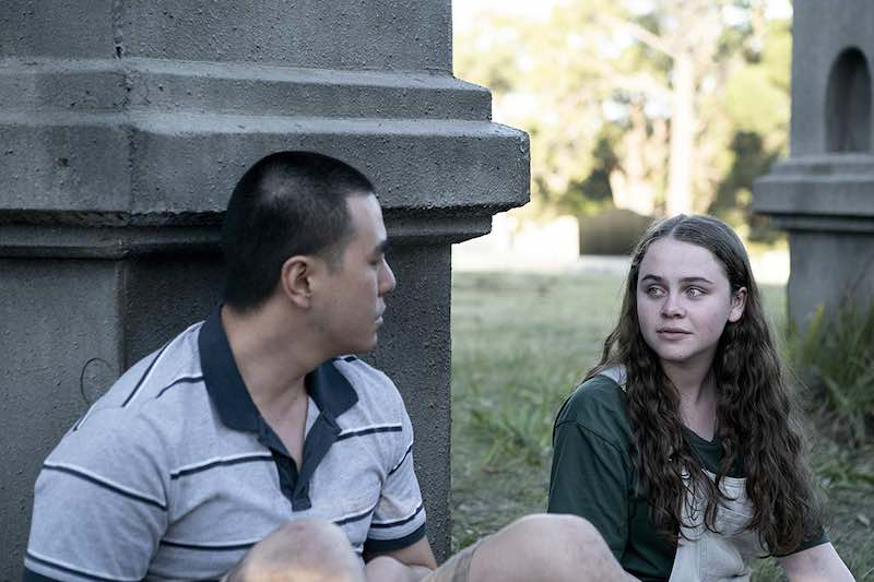 Harry Tseng and Jessica Faulkner in Glitch