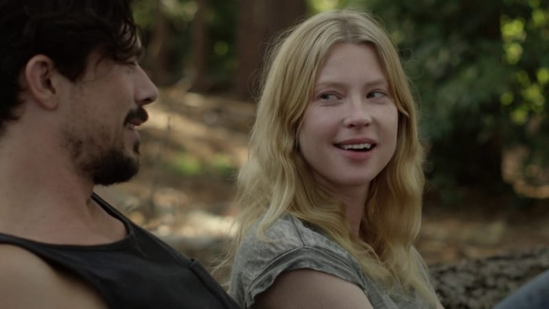 Luke Arnold and Emma Booth in Glitch