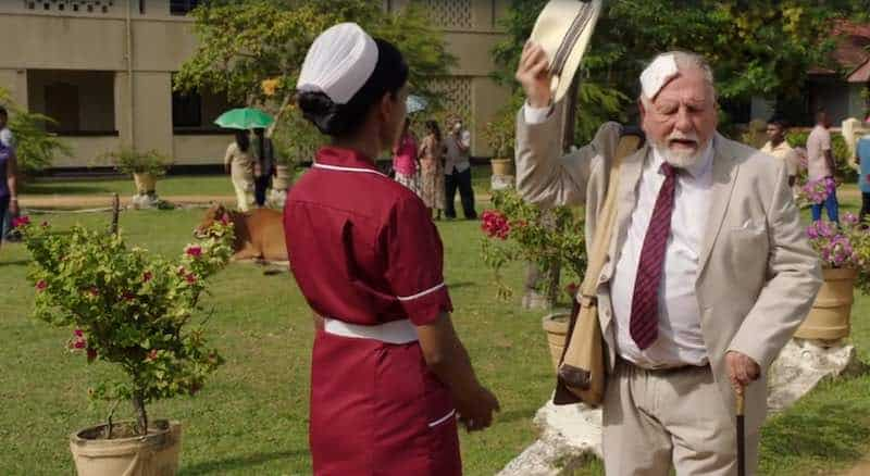 Nimmi Harasgama and Kenneth Cranham in The Good Karma Hospital