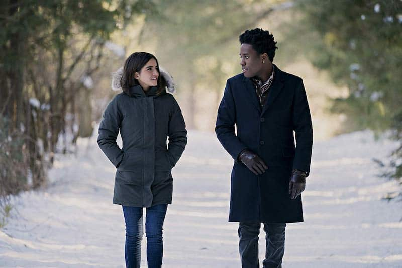 Shameik Moore and Isabela Merced in Let It Snow