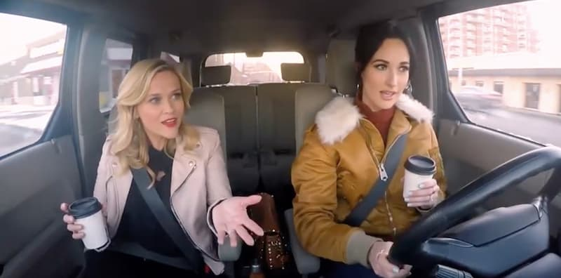 Reese Witherspoon and Kacey Musgraves in Shine on with Reese