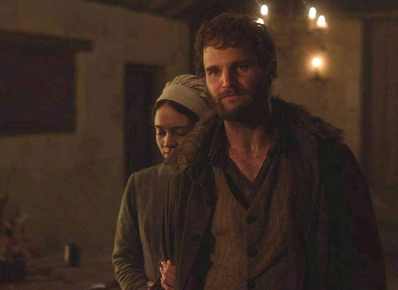 Michael Sheasby and Aisling Franciosi in The Nightingale