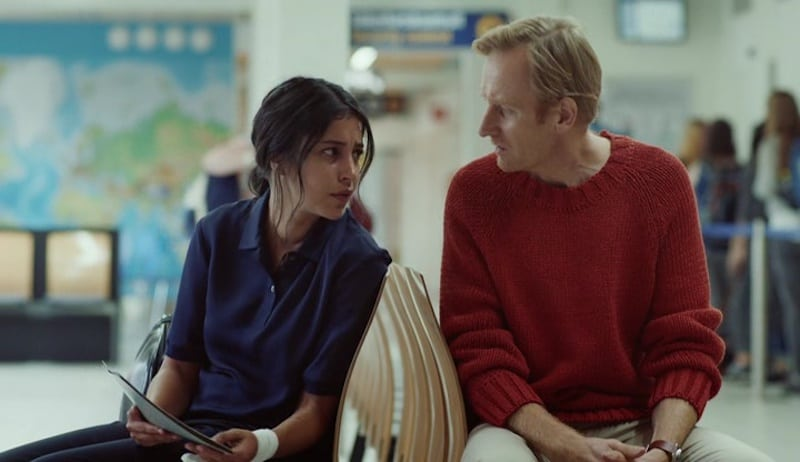 Gustaf Hammarsten and Leïla Bekhti in Midnight Sun
