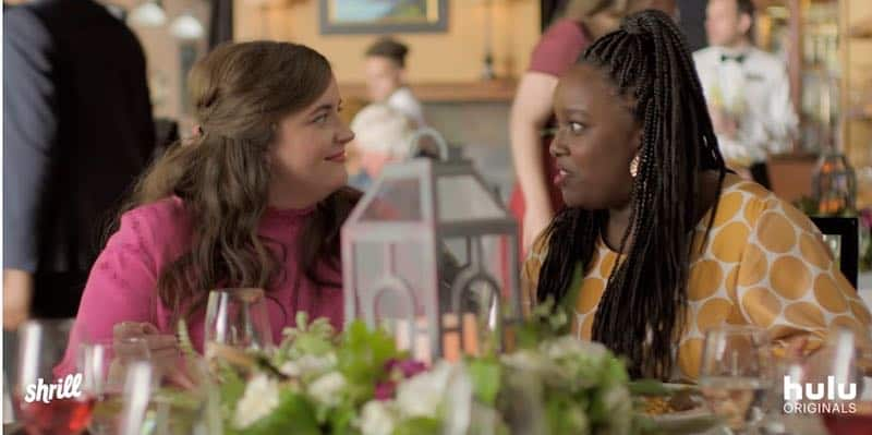 Aidy Bryant and Lolly Adefope in Shrill