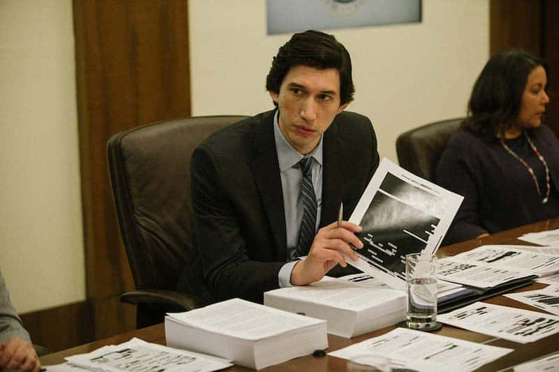 Linda Powell and Adam Driver in The Report