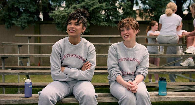 Sophia Lillis and Sofia Bryant in I Am Not Okay with This