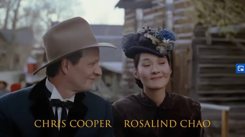 Chris Cooper and Rosalind Chao in Thousand Pieces of Gold