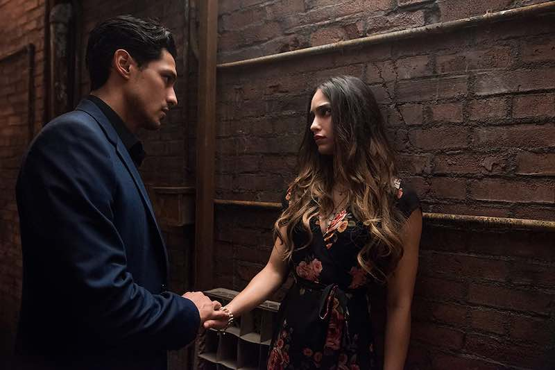 Carlos Miranda and Melissa Barrera in Vida