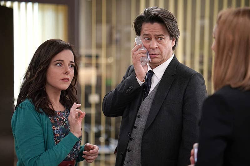 Thibault de Montalembert and Laure Calamy in Call My Agent (Dix pour cent)