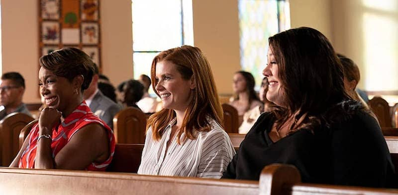 Brooke Elliott, JoAnna Garcia Swisher, and Heather Headley in Sweet Magnolias