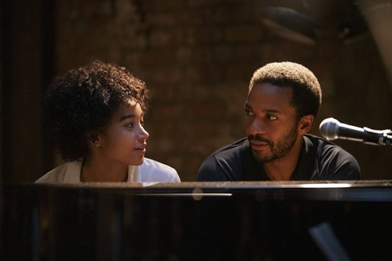 André Holland and Amandla Stenberg in The Eddy