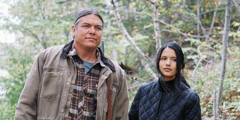 Brandon Oakes and Tanaya Beatty in Through Black Spruce