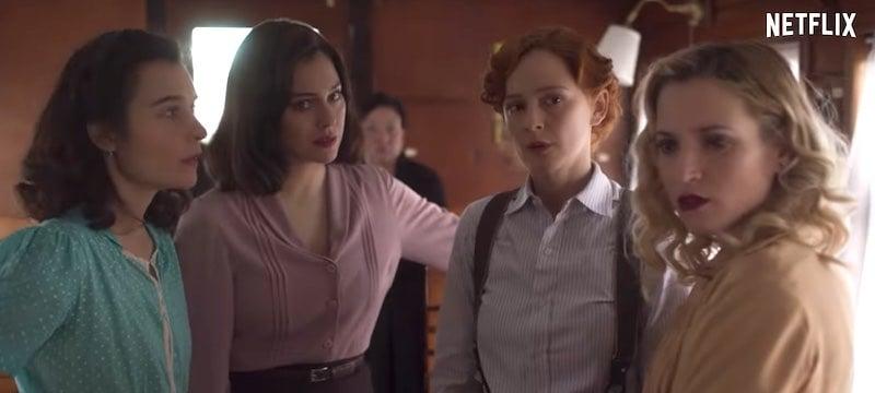 Blanca Suárez, Ana Fernández, Nadia de Santiago, and Ana Polvorosa in Cable Girls