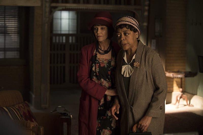 Wendy Crewson and Karen Robinson in Frankie Drake Mysteries