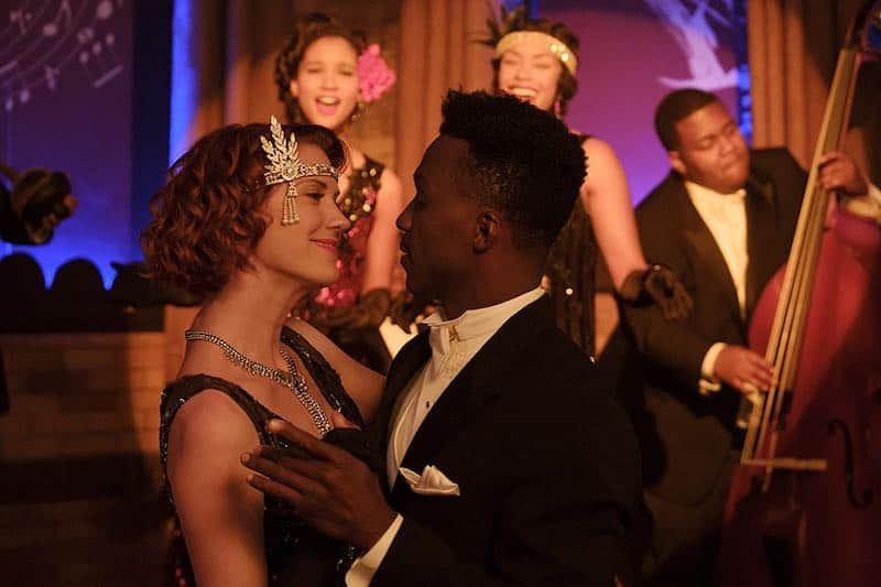 Lauren Lee Smith and Emmanuel Kabongo in Frankie Drake Mysteries