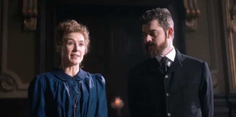 Rosamund Pike and Sam Riley in 'Radioactive'